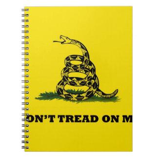 Don't Tread On Me gadston flag Notebooks