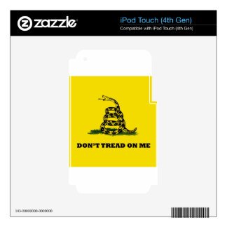 Don't Tread On Me gadston flag Decals For iPod Touch 4G