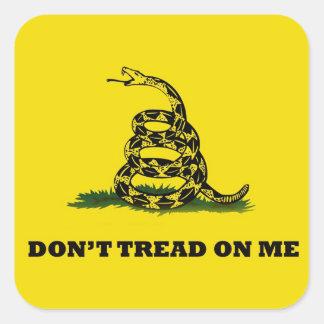 Don't Tread On Me gadston flag Square Sticker