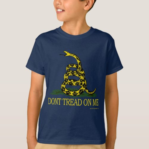 Dont Tread On Me Kids Dark T_shirt