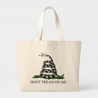 Don't Tread on Me Large Tote Bag