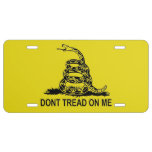 Don't Tread On Me License Plate Gadsden Flag License Plate