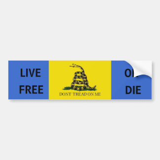 Dont tread on me, LIVE, FREE, OR, DIE Bumper Stickers