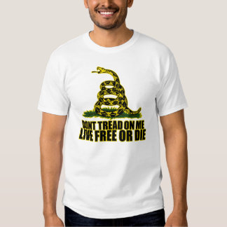 Don't Tread On Me - Live Free Or Die Shirt