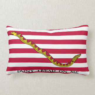 Dont Tread On Me - Navy Jack Flag Lumbar Pillow
