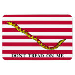 Don't Tread On Me - Navy Jack Flag Rectangular Photo Magnet