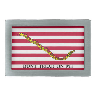 Don't Tread On Me - Navy Jack Flag Rectangular Belt Buckle