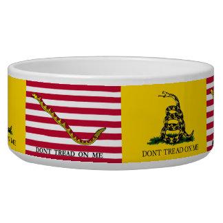 Don't Tread On Me- Navy Jack & Gadsden Flags Bowl