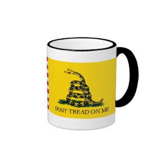 Don't Tread On Me- Navy Jack & Gadsden Flags Coffee Mugs