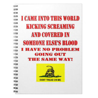 DON'T TREAD ON ME NOTEBOOK