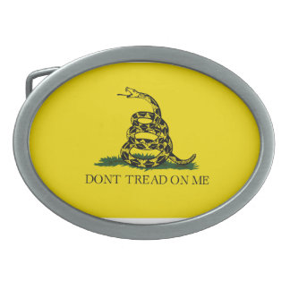 Don't Tread On Me Oval Belt Buckle