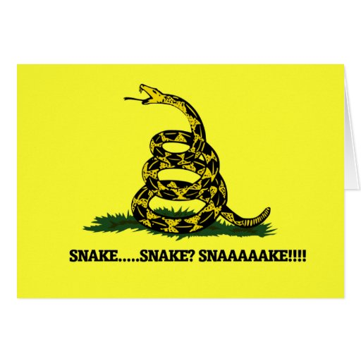 Don't Tread on me Parody Stationery Note Card