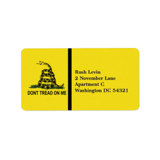 Dont Tread On Me Personalized Label