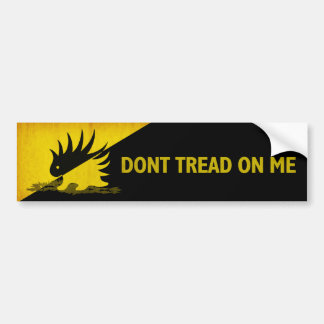 Don't Tread on Me Porcupine Bumper Stickers