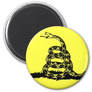 Don't Tread On Me Rattlesnake 2 Inch Round Magnet