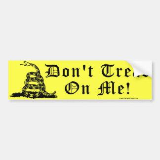 Don't Tread On Me Rattlesnake Bumper Sticker