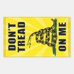 Don't Tread on Me Rectangular Sticker