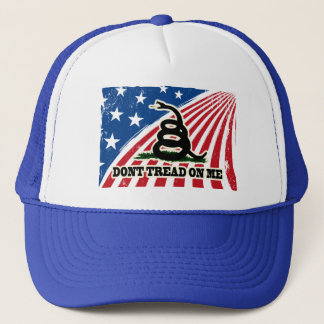 Dont Tread on Me, Red White Blue Patriotic Hat Cap