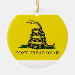Dont Tread On Me Revolutionary War Gadsden Flag Ornament