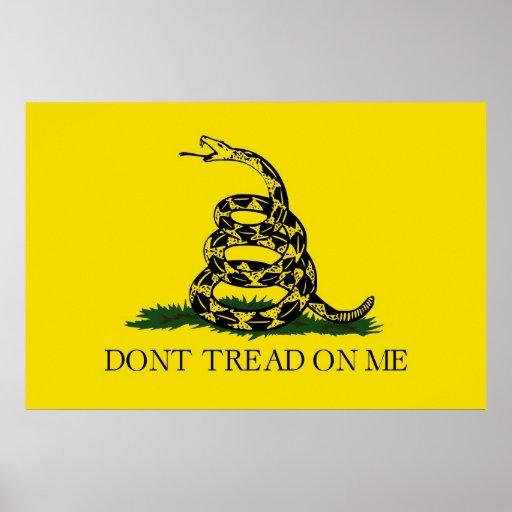 Dont Tread On Me Revolutionary War Gadsden Flag Poster
