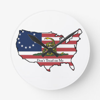 Dont Tread on Me Round Clock