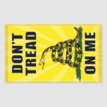 Don't Tread on Me Round Stickers