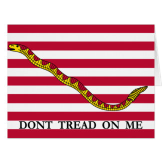 Don't Tread On Me - See Front & Back Card
