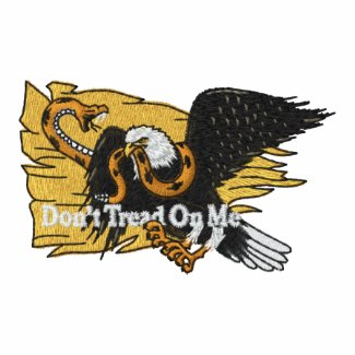 Don't Tread On Me Shirt With USA Gold Sleeves embroideredshirt