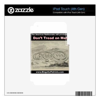 Don't Tread on Me Decal For iPod Touch 4G