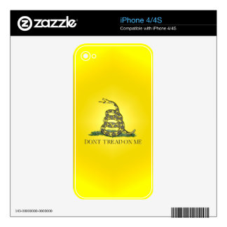 Don't Tread On Me Skins For iPhone 4S