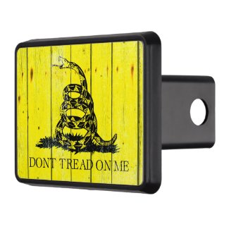 Don't Tread on me! Snake on old barn wood. Hitch Cover