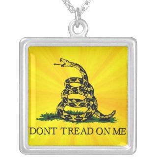 Don't Tread On Me Square Pendant Necklace
