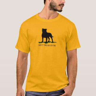 Don't Tread On Me - Staffordshire Bull Terrier T-Shirt