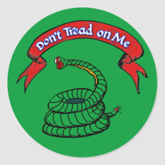 Don't Tread on Me T-shirts Sticker