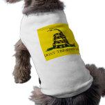 DONT TREAD ON ME, The Gadsden Flag Dog Tee Shirt