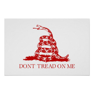 DONT TREAD ON ME, The Gadsden Flag Poster