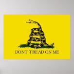 DONT TREAD ON ME, The Gadsden Flag Print