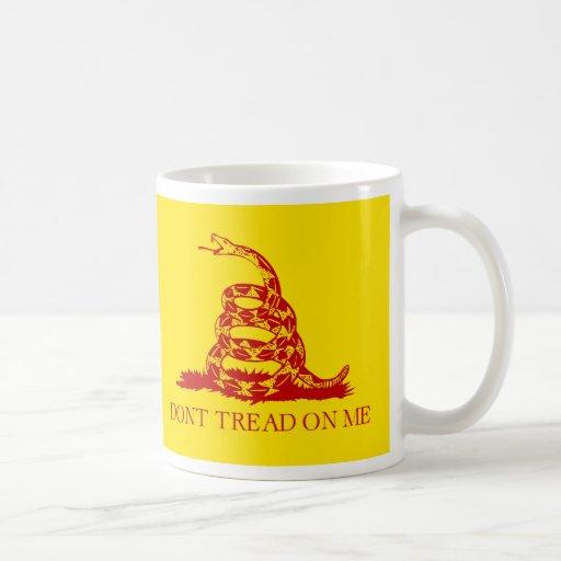 DONT TREAD ON ME, The Gadsden Flag Red on Yellow Coffee Mug