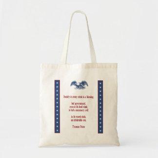 Don't Tread on Me - Thomas Paine Budget Tote Bag