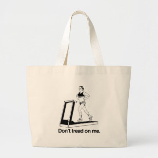 Don't tread on me treadmill.png canvas bag