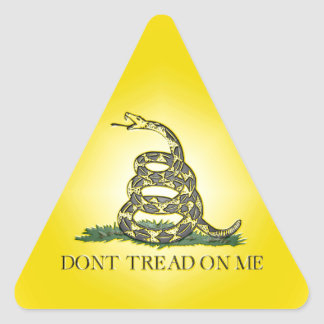 Don't Tread On Me Triangle Sticker
