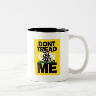 DONT TREAD ON ME Two-Tone COFFEE MUG