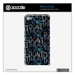 Don't Tread On Me Typographic Skins For The iPhone 4S