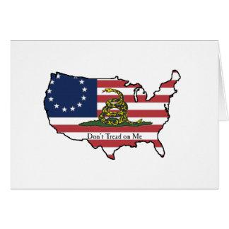 Dont Tread on Me USA Card