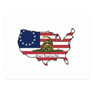 Dont Tread on Me USA Postcard