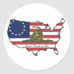 Dont Tread on Me USA Round Sticker