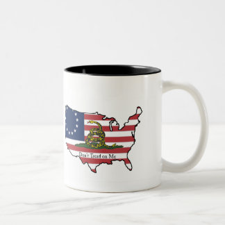 Dont Tread on Me USA Two-Tone Coffee Mug