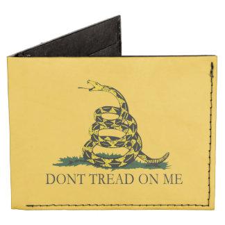 Don't Tread on Me Vintage Gadsden Flag Billfold Wallet