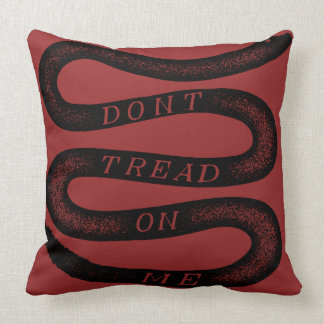 Don't Tread On Me Vintage Gadsden Throw Pillow