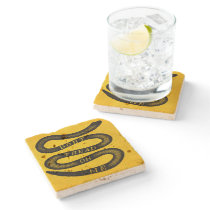 Dont Tread On Me Vintage Stone Coaster